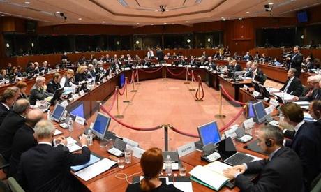 Hội nghị các Ngoại trưởng EU bàn về trừng phạt Nga ngày 9/2 tại Brussels, Bỉ. (Ảnh: