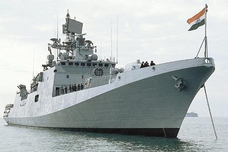 Một tàu khu trục của hải quân Ấn Độ. (Ảnh: