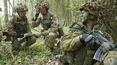 """Cuộc tập trận """"Spring Storm"""" của NATO (Nguồn:"""