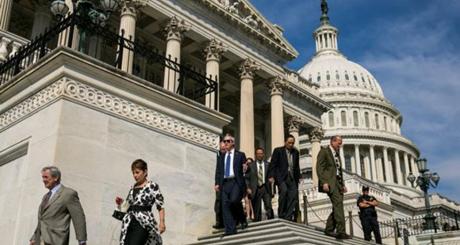 Bên ngoài trụ sở Quốc hội Mỹ. (Ảnh: