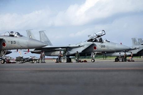 Các máy bay của Nhật trong một cuộc diễn tập.