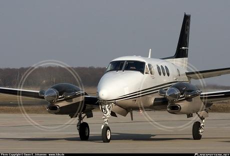 Một máy bay chở khách loại Beechcraft C 90(Ảnh: