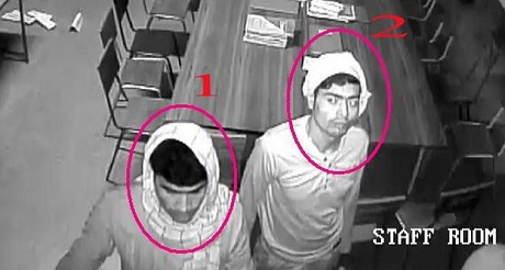 Hình ảnh các hung thủ bị quay lại trong camera an ninh. (Ảnh: