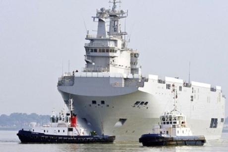 Pháp điều chiến hạm Mistral đến Biển Đông. (Ảnh: