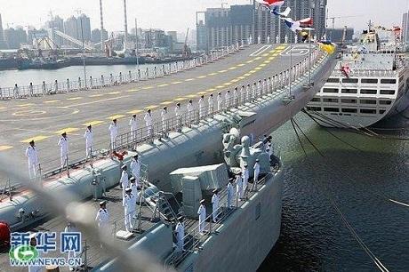 Liêu Ninh là tàu sân bay đầu tiên của Trung Quốc. (Ảnh: