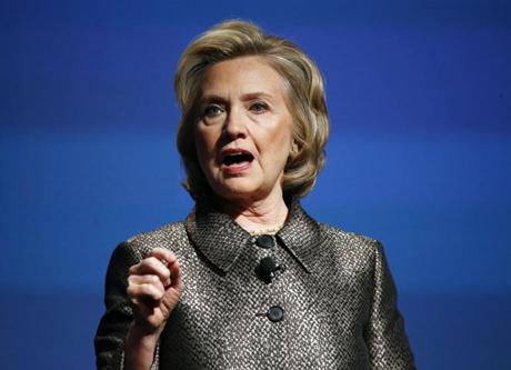 Cựu Ngoại trưởng Hillary Clinton. (Ảnh:
