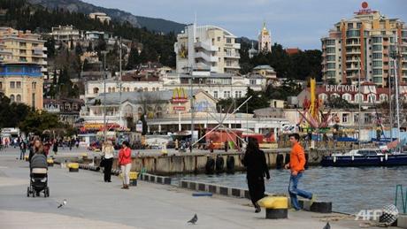 Quang cảnh cuộc sống thường ngày tại Yalta, thuộc bán đảo Crimea. (Ảnh: