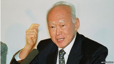 Lý Quang Diệu - nhà khai quốc công thần của Singapore. (Ảnh:
