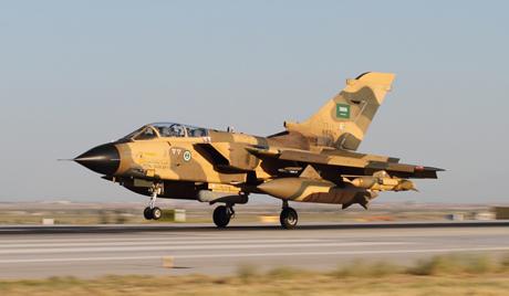 Tiêm kích của Không quân Hoàng gia Saudi Arbia. (Ảnh: