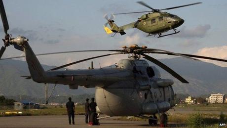 Sáu máy bay của Mỹ sẽ bắt đầu nhiệm vụ cứu trợ trong ngày hôm nay 4/5. (Ảnh:
