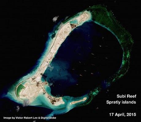 Hình ảnh vệ tinh chụp bãi đá
