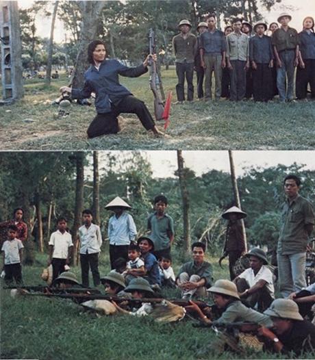 Các xã viên và dân quân Hà Nội tập bắn tại Công viên Thống Nhất.