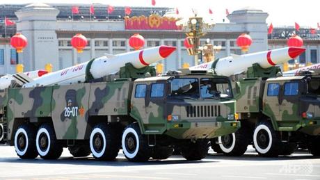Trung Quốc khoe sức mạnh quân sự trong một buổi diễu hành. (Ảnh: