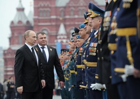 Tổng thống Putin tại lễ kỷ niệm ngày Chiến thắng phát-xít. (Ảnh: