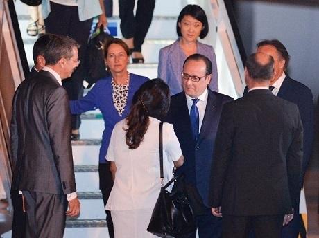 Tổng thống Pháp Francois Hollande đến thăm Cuba hôm 11/5. (Ảnh: