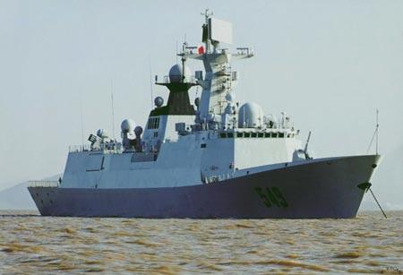 Một tàu khu trục Yancheng (Type 054A) của Trung Quốc. (Ảnh: