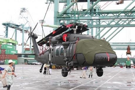 Đài Loan tiếp nhận lô trực thăng Black Hawk thứ 2 từ Mỹ. (Ảnh: