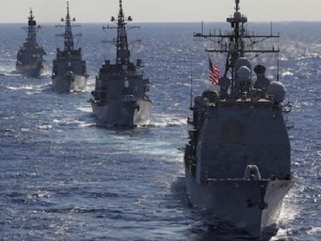Hạm đội Thái Bình Dương của Mỹ tại Biển Đông. (Ảnh: