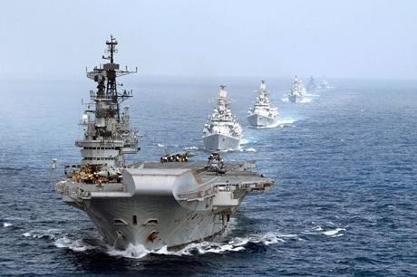 Các tàu chiến của Hải quân Ấn Độ. (Ảnh: