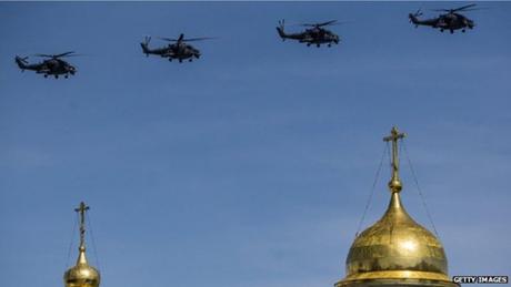 Các chiến đấu cơ Nga trong lễ duyệt binh tại Quảng trường Đỏ ngày 9/5 vừa qua. (Ảnh:
