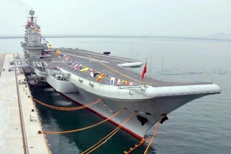 Liêu Ninh - tàu sân bayđầu tiên của Trung Quốc. (Ảnh: