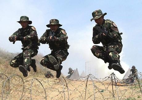 Binh lính Trung Quốc trong một cuộc tập trận. (Ảnh: