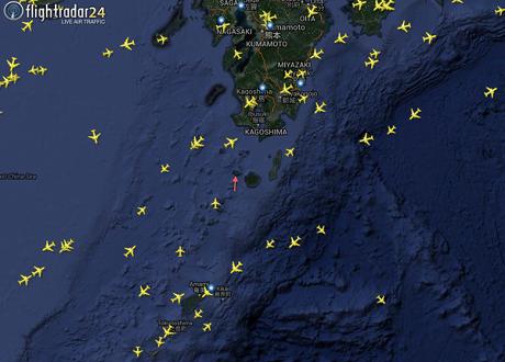 Nhiều chuyến bay phải chuyển hướng sau khi núi lửa phun trào. (Ảnh: