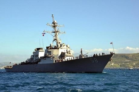 Tàu chiến USS Laboon của Hạm đội 6 thuộc Hải quân Mỹ. (Ảnh:
