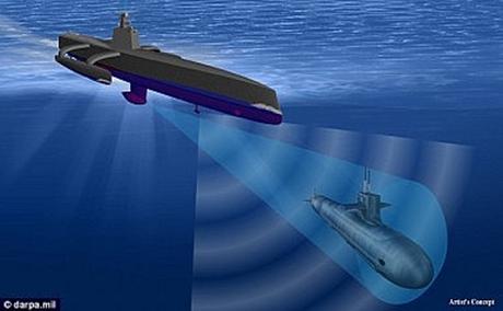 Hình mô phỏng cơ chế hoạt động của robot chống ngầm Thợ săn biển. (Ảnh: