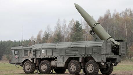 Hệ thống tên lửa có độ chính xác cao Iskander của Nga. (