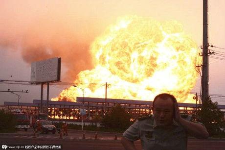 Nhà máy hóa dầu Trung Quốc nổ như bom. (Ảnh:
