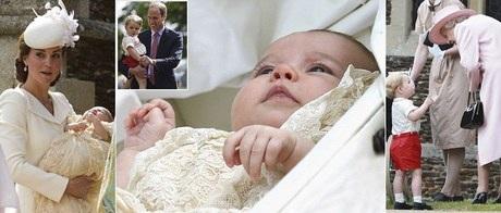 Hoàng tử bé nước Anh đáng yêu trong lễ rửa tội em gái