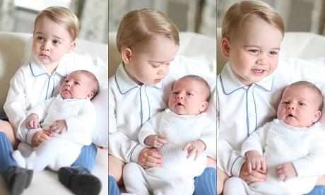 Trước đó, cư dân mạng từng phát sốt với một bức ảnh Hoàng tử Geogre âu yếm bế em gái.