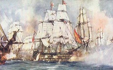 Hải quân Hoàng gia trong một trận chiến với quân Napoleon.