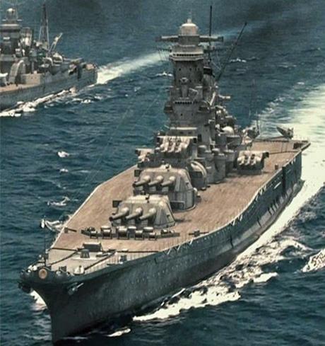 Tàu tấn công chủ lực Yamato của Hải quân Nhật.