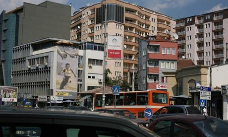 Thủ đô Pristina của Kosovo có dân số khoảng 200.000 người. (Ảnh:
