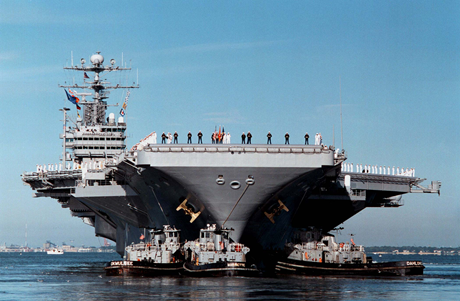Tàu sân bay USS George Washington của Hải quân Mỹ.