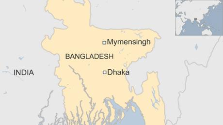 Vụ việc xảy ra tại thành phố Mymensingh, miền bắc Bangladesh. (Ảnh: