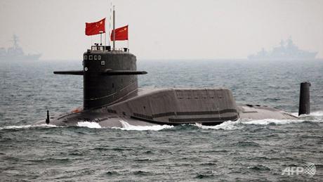Một tàu ngầm Trung Quốc tại căn cứ thuộc tỉnh Sơn Đông. (Ảnh: