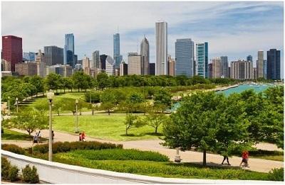 Khung cảnh thành phố Chicago.
