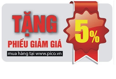 Pico tặng thêm 5% giảm giá cho khách khi mua hàng online.