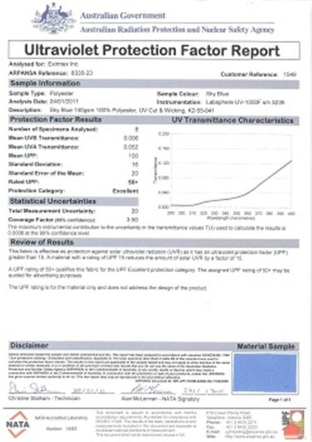 Giấy chứng nhận đạt chuẩn của ARPANSA