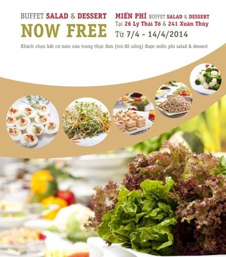 Buffet Salad miễn phí cho ngày hè
