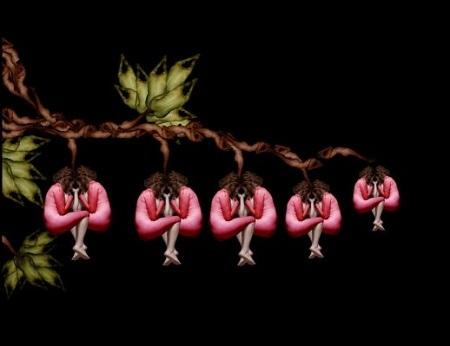 Những bông hoa tuyệt đẹp được tạo nên từ... người mẫu khỏa thân