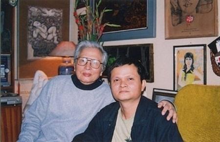 Hai cha con NSND Hải Ninh và Thanh Vân.