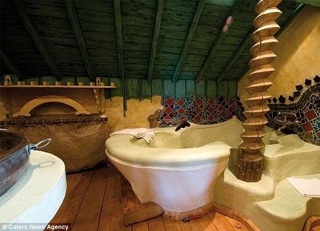 Phòng tắm ấn tượng.