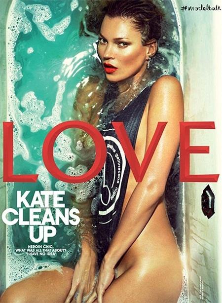 Những bìa báo đẹp rạng ngời của siêu mẫu Kate Moss
