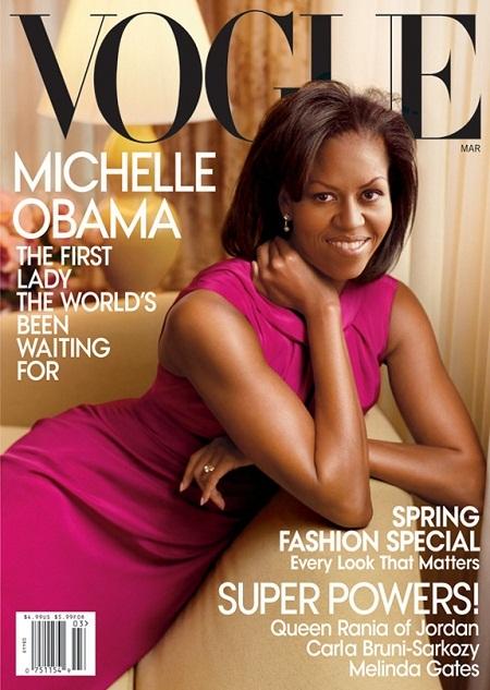 Bà Obama lần đầu xuất hiện trên bìa tạp chí Vogue cách đây 4 năm.