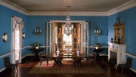 Một phòng khách ở bang Virginia, Mỹ hồi đầu thế kỷ 19