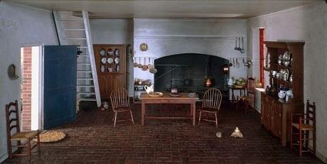 Phòng bếp ở bang Virgina hồi thế kỷ 18